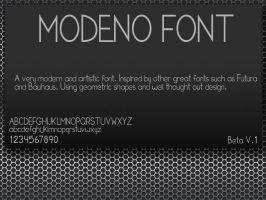 Modeno Font by TonyFbaby