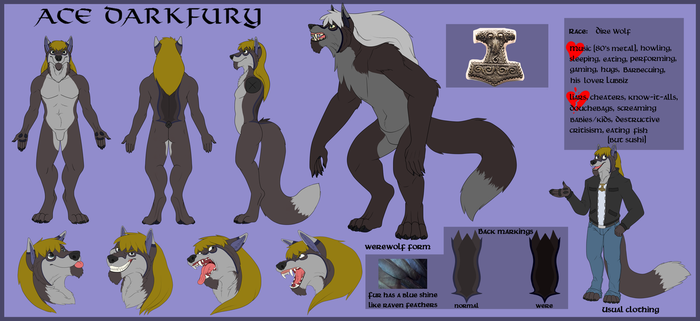 Ace Darkfury ref sheet SFW by Lubbiz