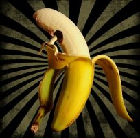 eating banana by analgetikum