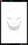 Cover line art of Vampiric face by bratsqaud