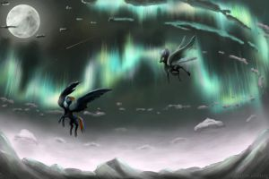 Night Flight by akurion