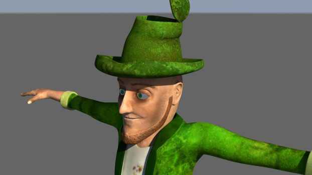 3D Homeless Leprechaun by potential-weed