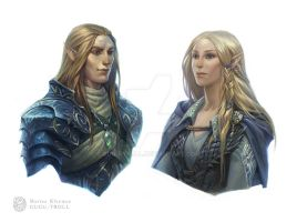 Elves of Blue Mountains by gugu-troll