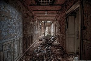 Destroyed Hallway by Miisamm