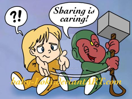 Sharing is Caring by Baby-Loki