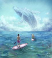 colossal humpback whale by peacestream