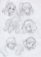 Mogyutto Fluffy Dress Faces by SweetAbril