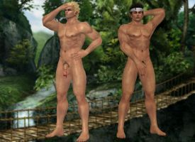 Jacky Bryant and Akira Yuki(Nude) Dead or Alive 5 by XKamsonX