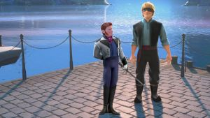 Disney's Frozen Prince Hans - no sled for Kristoff by cdpetee