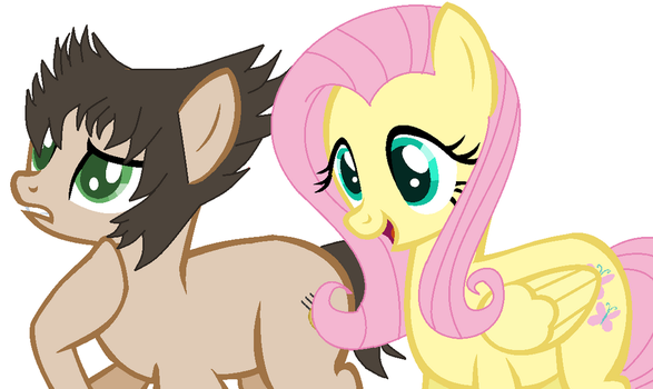 MLP Wolverine and Fluttershy by Barrel2s1cool