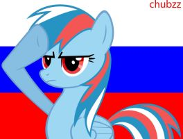 MLP:FIM Russian Rainbow Dash Salute by kmanderson62