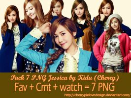 Pack 7 PNG Jessica by me by CherryPielovedesign
