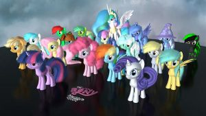 MLP Fluffy - All Together - Version 2 - OLD by VeryOldBrony