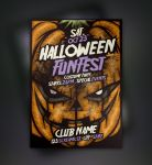 Free Pumpkin Halloween Flyer Template by Pixeden