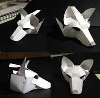 Paper Dog Face by Hh4v3n