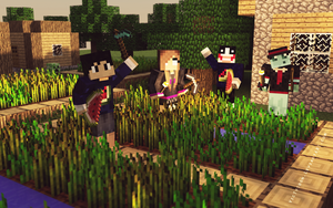 Me and my friends in Minecraft by VicTycoon
