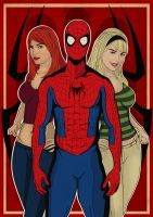 Spidey's Girlfriends by Steve-Nice