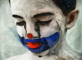 Sad Clown Boy by Jessica-Art