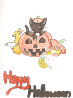 HAPPY HALLOWEEN!!!!! XD by AmyKittenFox