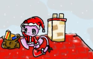 Christmas mew - Entry by RoxytheTiger