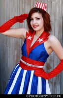 USO Girl - Captain America by MllAyuko