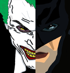 Batman and the Joker by maruecos