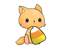 Kitty With Candy Corn Render by Temari222