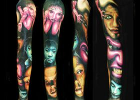 Scary sleeve by brandonbond