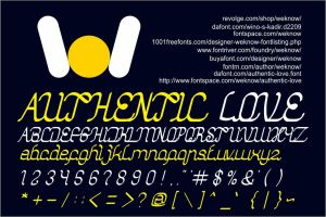 authentic love font by weknow