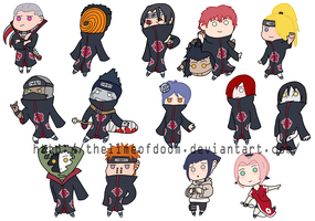 Naruto Chibis by thelimeofdoom