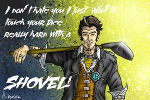 Handsome jack - shovel (With text) by SephirothMichaelis