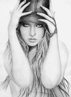 Christina Aguilera Drawing 5 by sammilightwood
