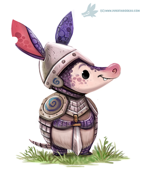 Daily Paint #1207. Armourdillo by Cryptid-Creations
