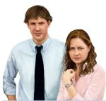 Jim and Pam - Speed Painting by wakdor