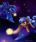 Space dolphin by Incinerater