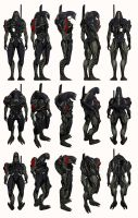 Mass Effect 2, Legion - Model Reference. by Troodon80