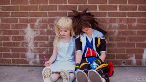 Sora falls to sleep by Mciff-Cosplay