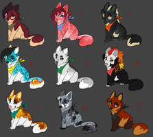 More cheap adoptables! by Rinermai
