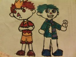 Snow Miser and Heat Miser in Animal Crossing by InvaderKez