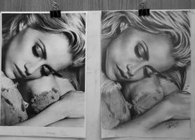 Brittany Murphy- My drawing , the reference photo by ADIKAY