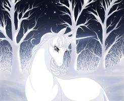 Last unicorn-winter by Jacky-Bunny