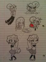 They take over a page in my notebook by animefan15123