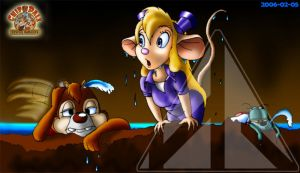 Dale, Gadget and Zipper by Oddey-Art-and-Design