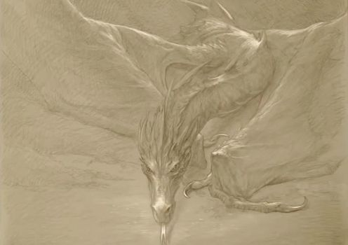 Smaug sketch by DayDreamPrincess