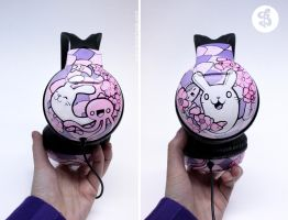 cherry blossom headphones by Bobsmade