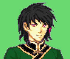 RWBY Lie Ren pixel by Ronku