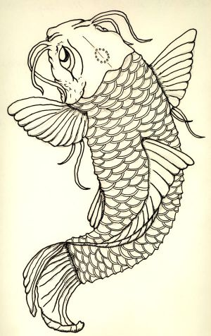 Tribal tattoos sketches - koi tattoo designs