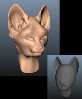Mudbox cat by RosalineElric