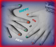 4th of July Nails by SamiJae
