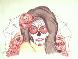 Sugar Skull Girl by RaphtureTARTS